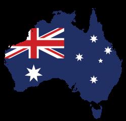 Australian flag map